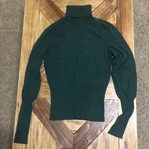 Green Turtleneck Sweater The Limited
